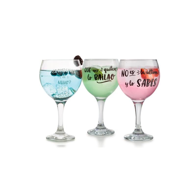 6 Copas cocktail Frases 64,5cl